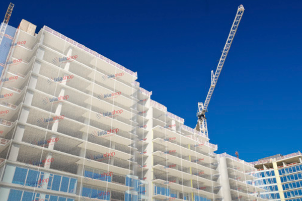 Tela Fachadeira de Proteção para edificações em construção