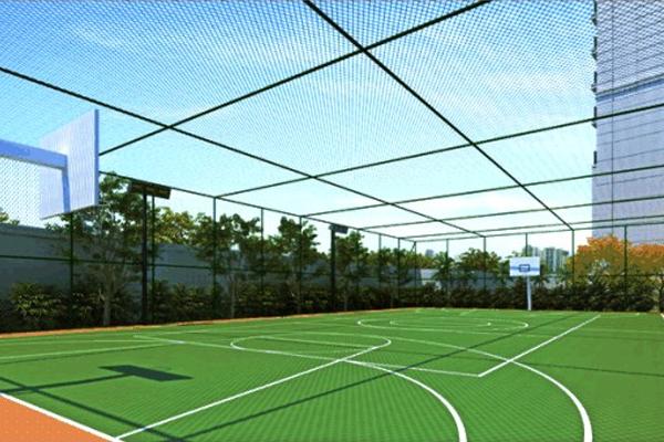 Rede de nylon para proteção de quadras poliesportivas